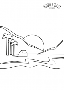 Colour me drawing for Easy Cheesy landscape sheets