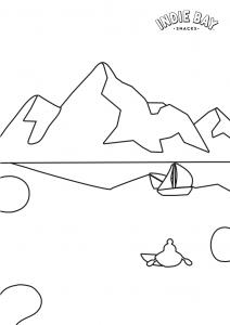 Colour me drawing for Rock Salt landscape sheets