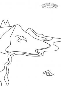 Colour me drawing for Super seeds landscape sheets